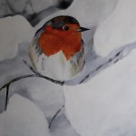 roodborstje-in-winters-landschap-60x80-cm-acryl