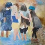 4-vriendinnen-acryl-op-doek
